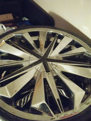 22 inch rims and tires for Sale in Shawnee, KS