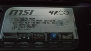 MSI GX60 DESTROYER GAMING LAPTOP. DELL HP LG SAMSUNG APPLE IPHONE LENOVO for Sale in Auburn, WA