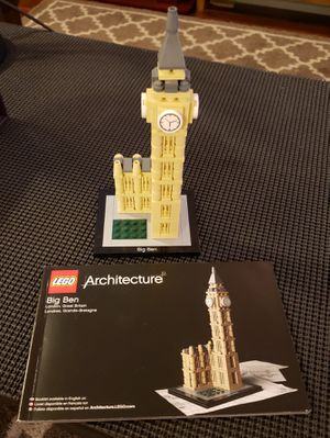 LEGO Architecture 21013 Big Ben (Discontinued by manufacturer) PreOwned complete w/instructions NO BOX for Sale in VLG WELLINGTN, FL