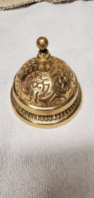 Solid Brass Victorian Style Desk Bell for Sale in Yorba Linda, CA