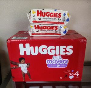 Huggies Little Movers Size 4!!READ THE ADDDDD💜👶💜 for Sale in Compton, CA