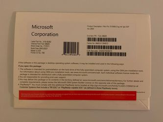 Windows 10 Pro Dvd With Product Key for Sale in Anaheim,  CA