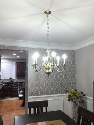 Chandelier gold 6 lights for Sale in Herndon, VA