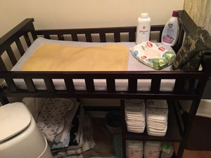 Wooden Baby changing table for Sale in Windsor, CT