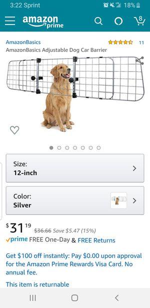 Amazon Basics Adjustable Dog Car Barrier for Sale in Clovis, CA