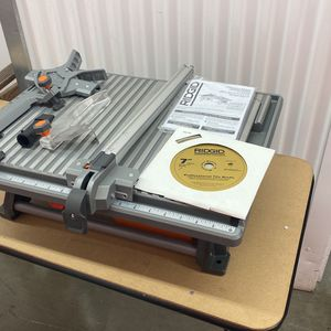 RIDGID 6.5 Amp Corded 7 in. Table Top Wet Tile Saw for Sale in National City, CA
