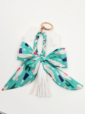 Llama print scarf bag charm with tassel for Sale in Baldwin Park, CA