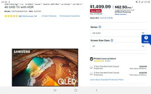 2019 QLed60 75 inch Samsung tv for sale for Sale in Phoenix, AZ