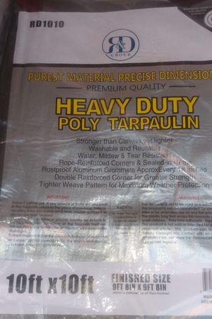 Grey 10x10ft. Heavy duty industrial tarp new $12.00 for Sale in Los Angeles, CA