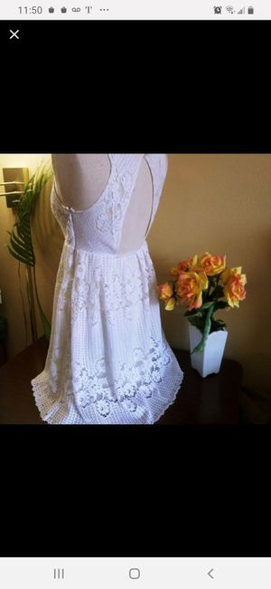 FREE PEOPLE ☆ Anthropologie ☆ white crochet lace BOHO hippie dress • beach • vacation • cruise for Sale in Vernon, WI