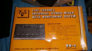 Antique 5 Channel Universal stereo mixer for Sale in Waukegan, IL