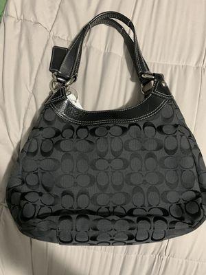 Coach shoulder bag, canvas, monogram, black, with buckle, for Sale in Auburn, WA