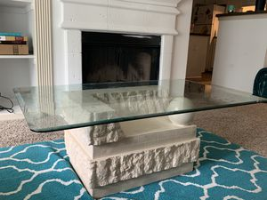 Stone base Coffee table and end table for Sale in Decatur, GA