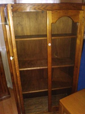 antique oak cabinet for Sale in Las Vegas, NV