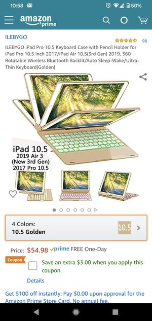 """iPad 10.5"""" full rotation keyboard case for Sale in Paramount, CA"""