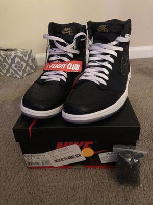 Air Jordan 1 Retro High OG / Black/ Metallic Gold- Summit white. Size 11 for Sale in Peoria, AZ