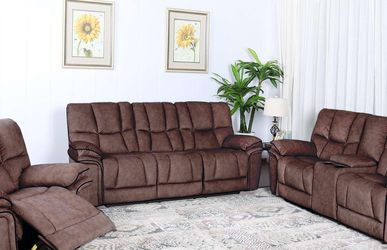 Barcelona 3PC Reclining Set In Brown Or Gray for Sale in St. Petersburg,  FL
