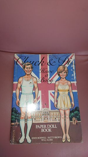Prince Charles and Diana 1982 paper doll book for Sale in Phoenix, AZ