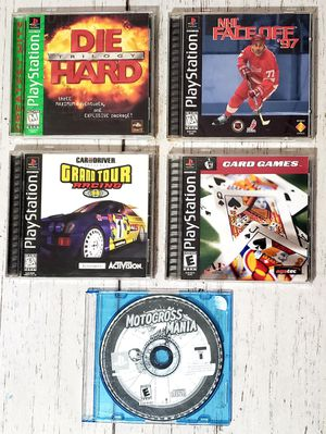 Lot of 5 PS1 Games Sony PlayStation All Complete TESTED - Die Hard Trilogy etc.. for Sale in Harrisonburg, VA