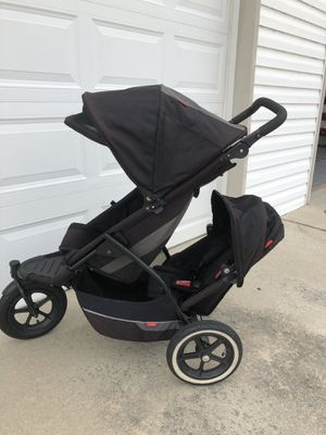 Phil & teds double sport stroller with travel case & rain cover for Sale in Virginia Beach, VA