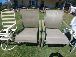 Aluminum lawn chairs $25 for the pair for Sale in Wichita, KS