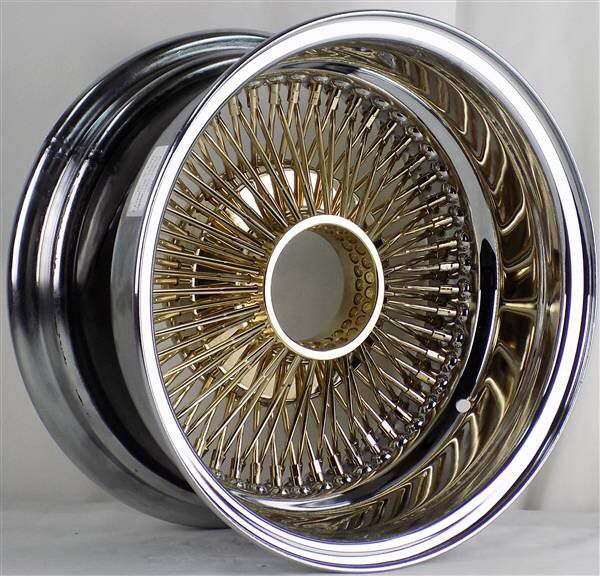 Wire Wheels 13x7 13x6 14x6 14x6 14x7 15x7 Gold/chrome Best
