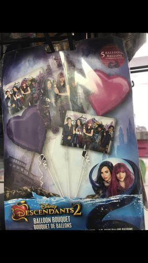 Descendants balloon bouquet for Sale in Waterbury, CT