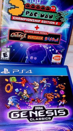 PS4 SEGA GENESIS CLASSICS OVER 50GAMES AND PACMAN COLLECTION BOTH GAMES FOR 30$ for Sale in Escondido,  CA