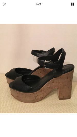 Marc Fisher Black Leather Sandals (Size 8.5) for Sale in Germantown, MD