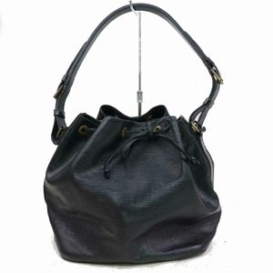 Authentic Louis Vuitton Petit Noe M44102 Black Epi Shoulder Bag 11312 for Sale in Plano, TX