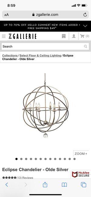 Z Gallerie chandelier for Sale in Bakersfield, CA