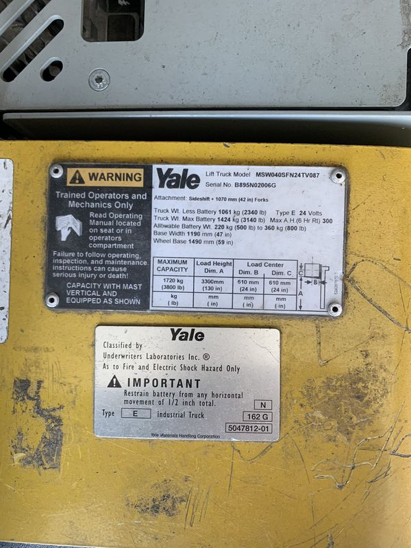 2009 Yale mswo40 4000lb walkie stalker