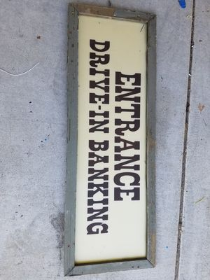 Old plastic entrance drive in banking sign for Sale in Murrieta, CA
