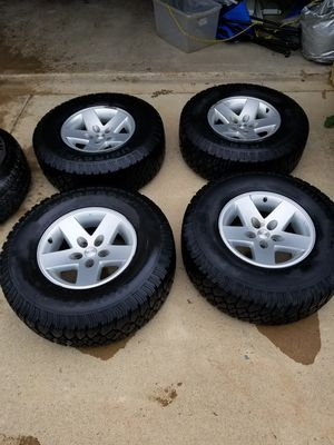 Wheels and tires for jeep wrangler for Sale in Fort Belvoir, VA