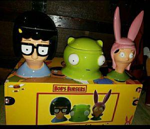 Bob's Burgers Ceramic Character Jar Set for Sale in Philadelphia, PA