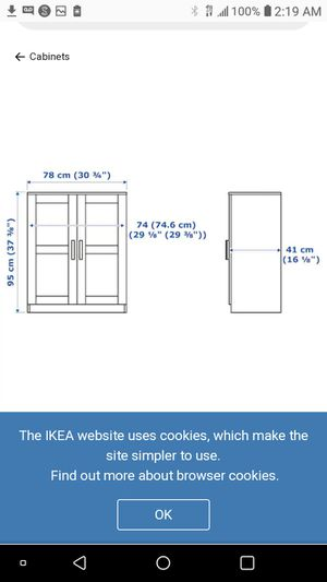 Ikea two door shelved storage for Sale in Philadelphia, PA