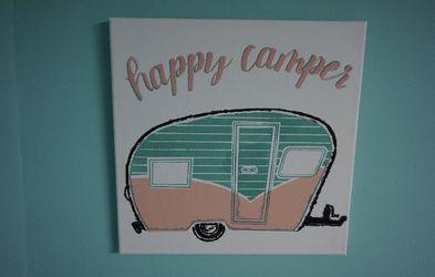 Happy Camper Canvas for Sale in Centralia,  WA