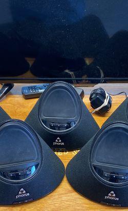 Phorus PS1 Wifi Home Speaker System (5 Speakers) for Sale in Waco,  TX