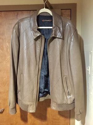 Genuine Leather Mens Jacket Size L XL for Sale in Alexandria, VA