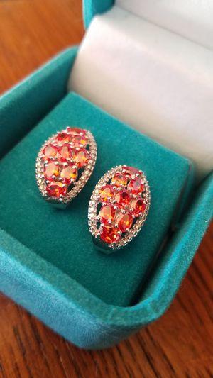 Garnet Earrings (Mandarin garnet) for Sale in Butte, MT