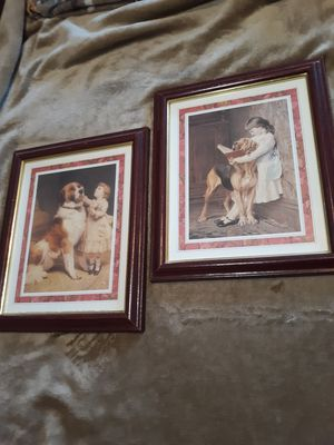 Two red/burgundy Picture Frames for Sale in Greer, SC