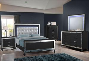 Brand new queen size bed bedroom set with led light in headboard $1299 for Sale in Hialeah, FL