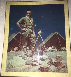 Rare Mid Century Normal Art Frame (The Scoutmaster) Retro for Sale in Anaheim, CA