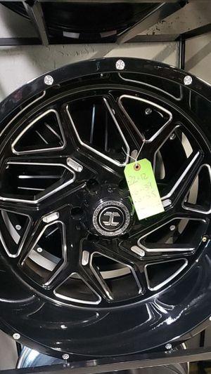 22x12 black hardcore rims 6 lug 6x139 6x5.5 on new mud tires 33 1250 22 for Sale in Phoenix, AZ