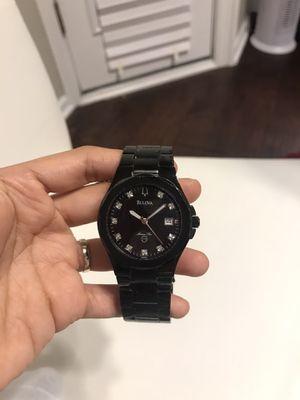 Men's Bulova Marine Star Black On Black Diamond Dual C976886 Watch for Sale in Arlington, TX