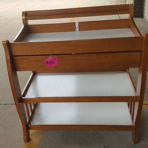 Maple Wood Changing Table for Sale in Houston, TX