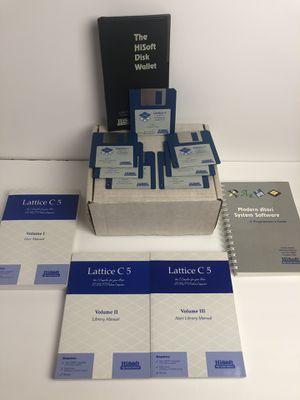 NOS Atari System Software Lattice C 5 for ST/STe/TT/Falcon030 Disks + Manuals for Sale in San Lorenzo, CA