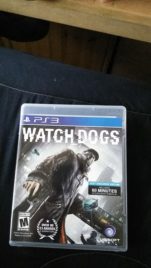 Watch dogs ps3 for Sale in Everett, WA