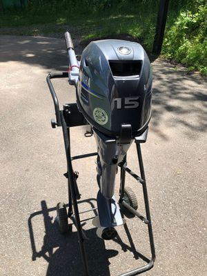 15hp yamaha four stroke outboard for Sale in Gig Harbor, WA