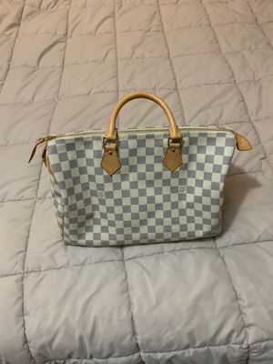 White speedy Louis Vuitton bag for Sale in Dearborn, MI